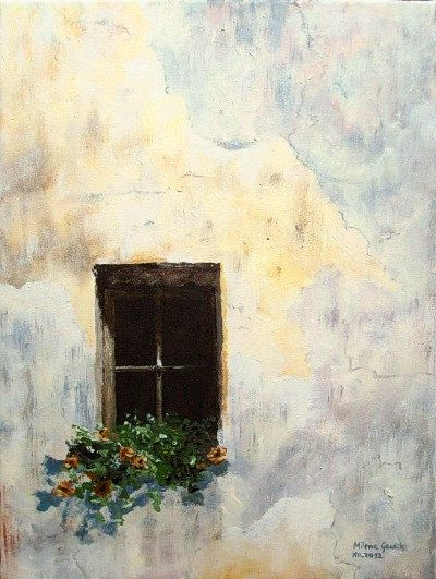 Old Window III - Fine Art GICLEE PRINT after an original painting by Milena Gawlik