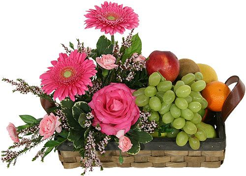 fruit & flower arrangements | Canada Flowers > Fruit and Gourmet > Fruit & Flower Basket #14