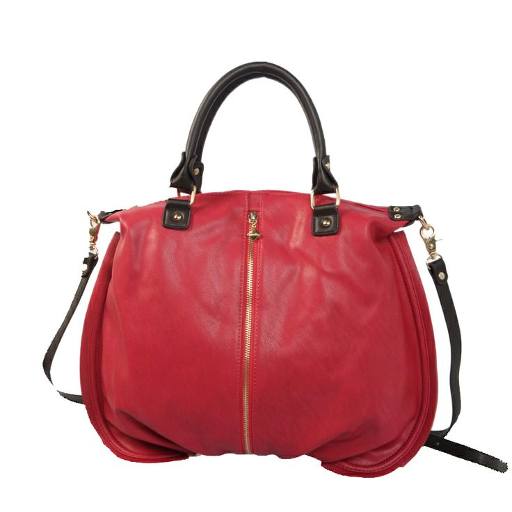 fucsia handle bag