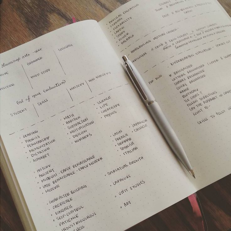 bullet journal layout for lesson plans