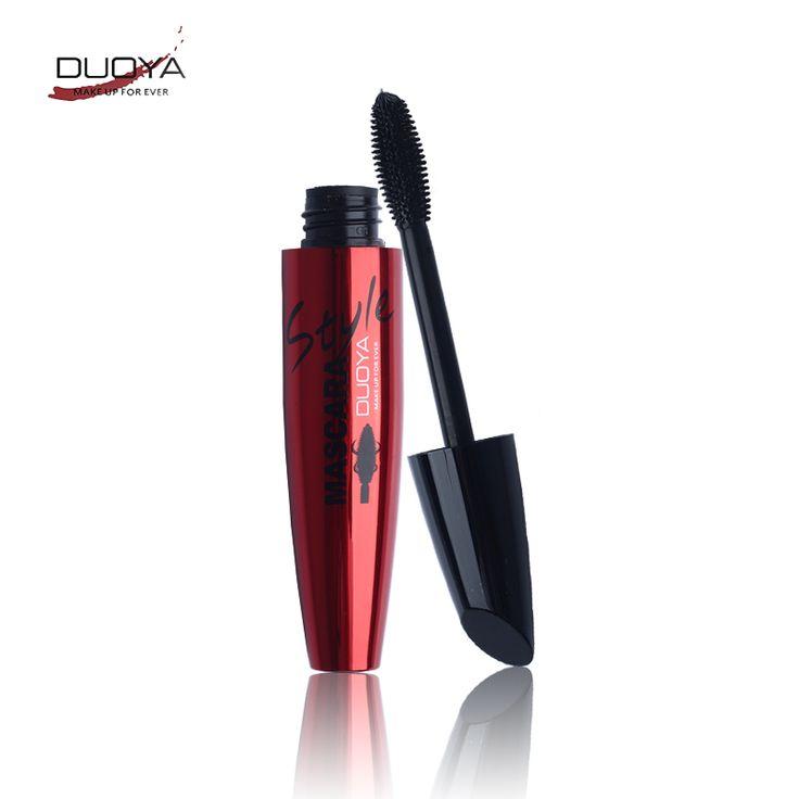 Duoya mujeres multifuncional crema de pestañas mascara waterproof curling natural negro mascara de pestañas pincel de maquillaje
