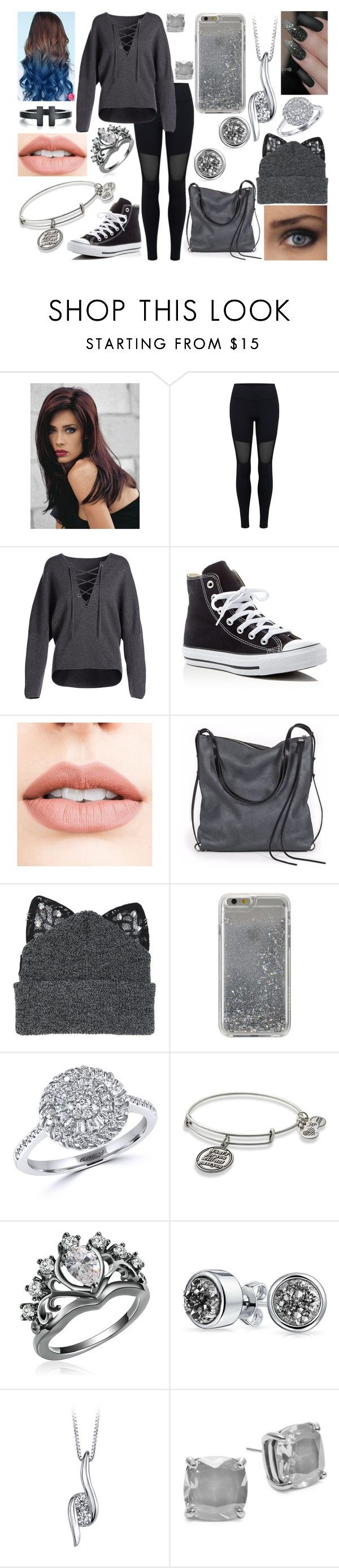 """""""#8✨"""" by kenziebandgeek ❤ liked on Polyvore featuring Revlon, Varley, Vince, Converse, Jouer, Ina Kent, Silver Spoon Attire, Agent 18, Effy Jewelry and Alex and Ani"""