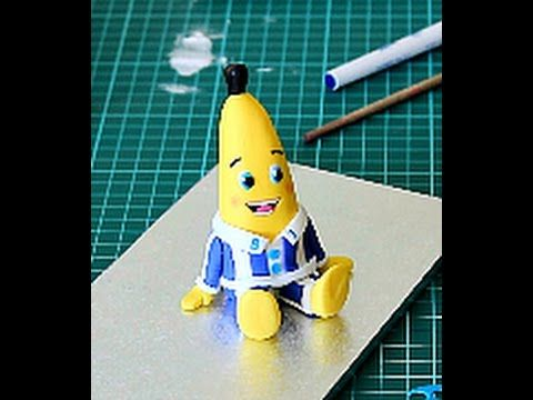 Bananas in Pyjamas Fondant Figure Tutorial