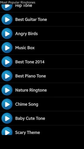 Most popular ringtones features popular free ringtones and text message sounds for your smart phone or tablet.  Easily listen to any popular ringtone by tapping the button to select it.  With dozens of free popular ringtones you can use as your ringtone, notification, alarm or for a person calling.  Download this great selection of free popular ringtones and use a different ringtone for every mood.  Most popular ringtones is updated often with new free ringtones so you never get bored.<p…