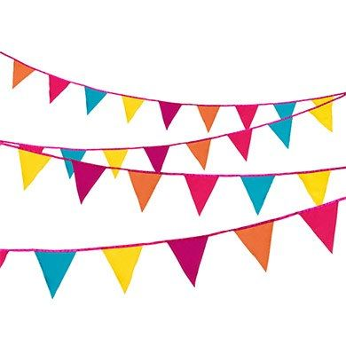 Bright Multi-Colored Fabric Bunting for the playroom?