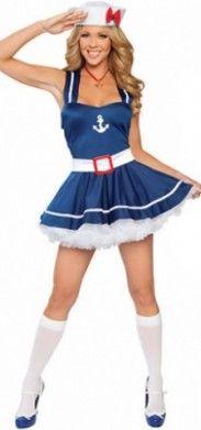 Disfraz de marinera. Un disfraz sexy y divertido. Nuestro disfraz de marinera es perfecto para una noche alegre en donde quieras llevar un disfraz cómodo y divertido!