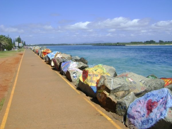 Painted Rocks in Port Macquarie