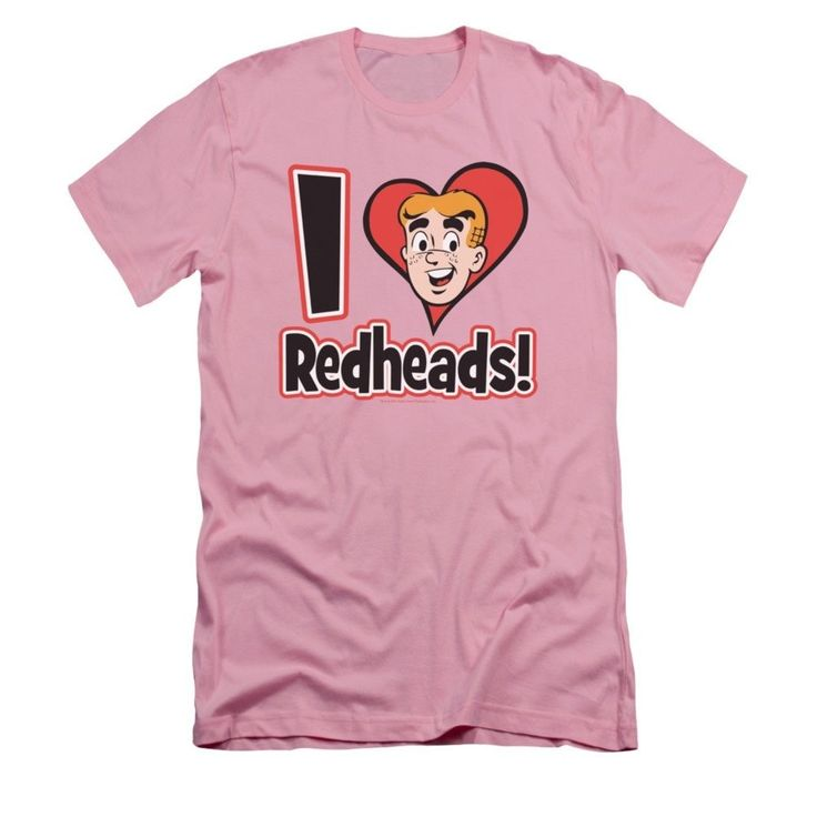 Archie Comics - I Love Redheads Adult Slim Fit T-Shirt