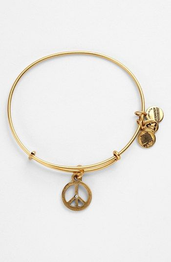 Alex and Ani 'World Peace' Expandable Wire Bangle available at #Nordstrom in color gold