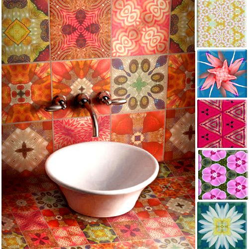 Colourful ceramic tiles