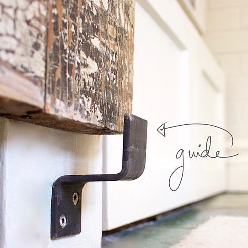 Free tutorial: Guide for door track hardware http://www.lynneknowlton.com/diy-door-track…-dbomb-dot-com/