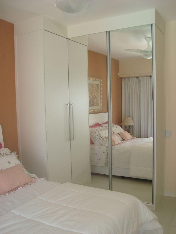 Resultado de imagem para quartos pequenos com guarda roupa em l