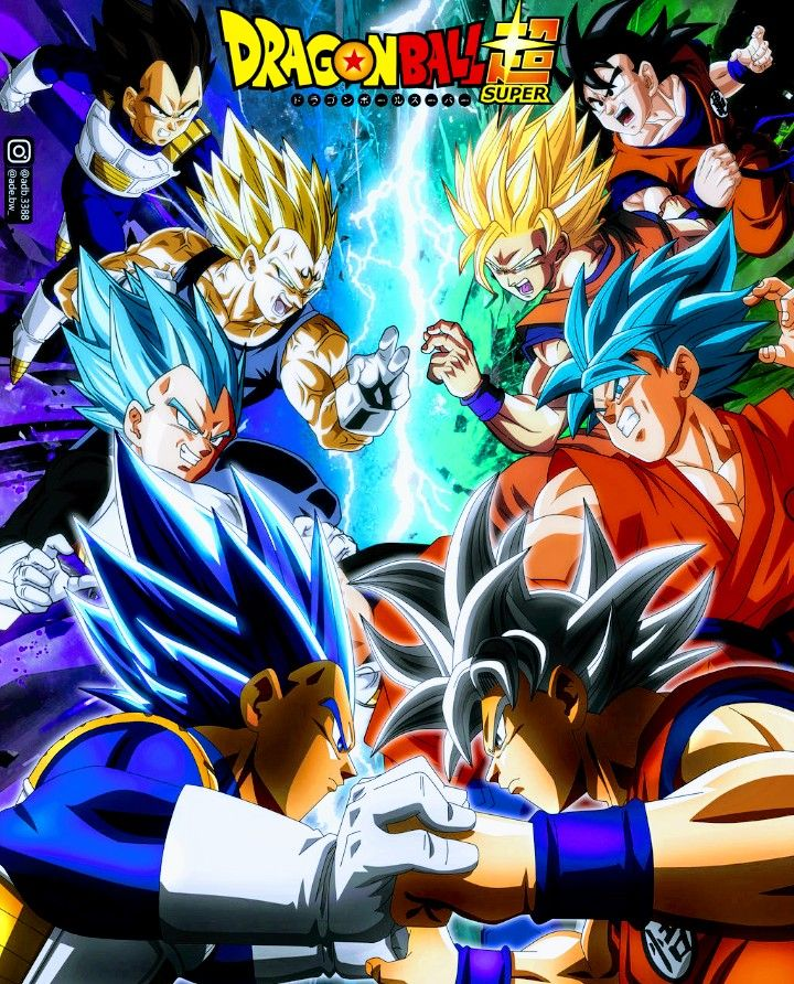 Goku Vs Vegeta Dragon Ball Super Anime Dragon Ball Super