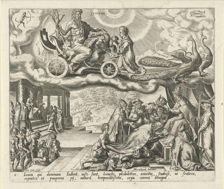 De planeet Jupiter en zijn kinderen, Harmen Jansz Muller, Joannes Galle, 1566 - 1570