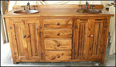 16 Best Photos of Double Sink Bathroom Vanity Cabinets In Pine ...