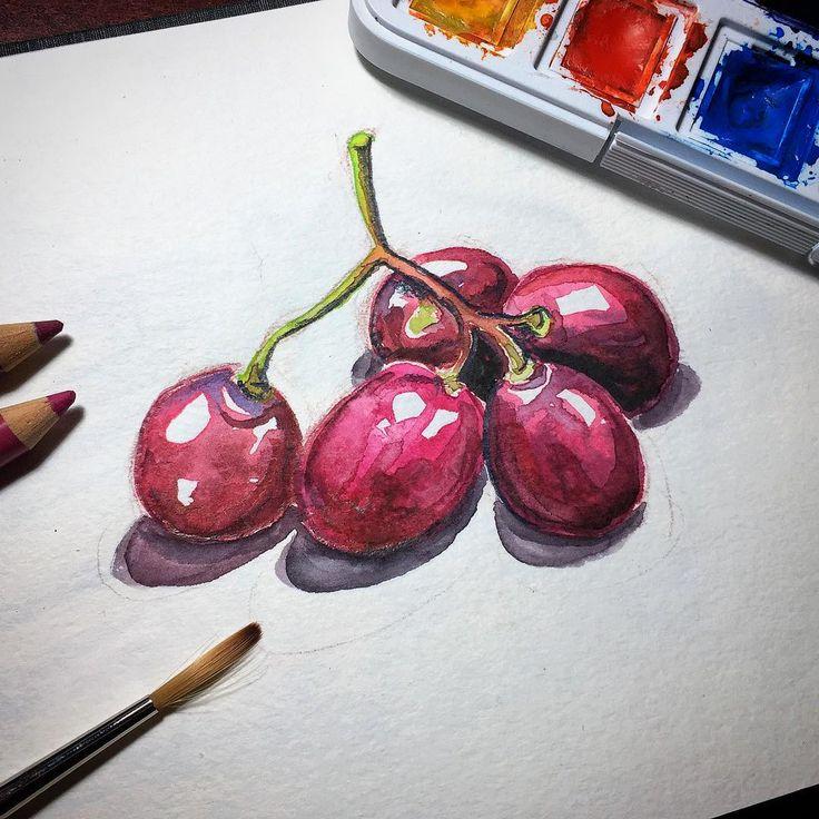 Tiempo de uvas #uvas #grapes #dibujo #sketch #urbansketch #urbansketchers #urbansketching #urbanart #watercolor #watercolour #illustration #ilustracion #acuarela #draw #drawing #travelsketch #art