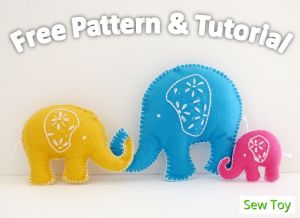 Elephant free pattern and tutorial