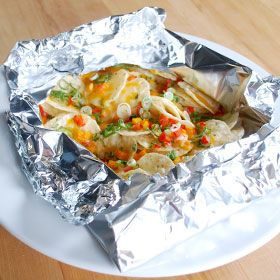 Nachos in a Packet, a recipe from the ATCO Blue Flame Kitchen.