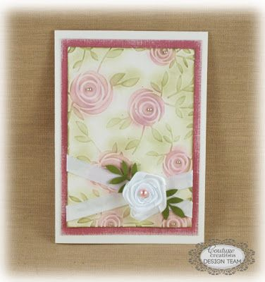 Couture Creations: Elegant Roses Card by Sue Smyth Embossing folders