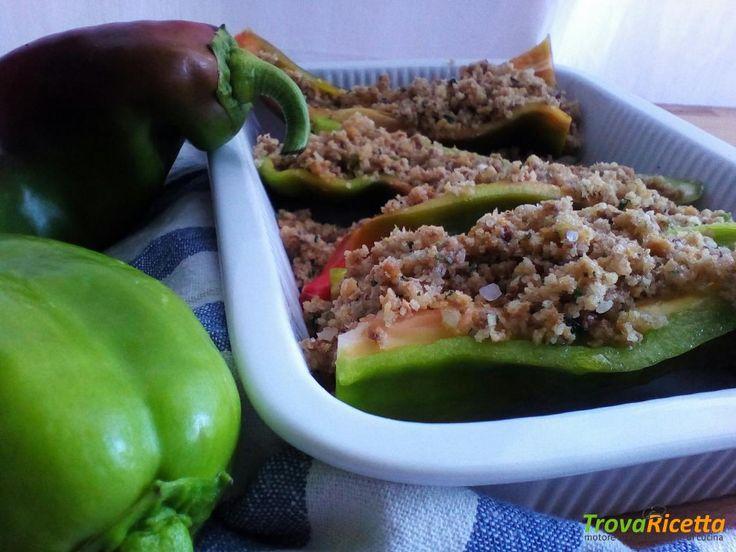 Ricetta con i peperoni: ripieni al forno  #ricette #food #recipes