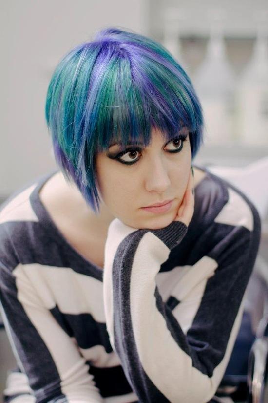 hair multi- funky color