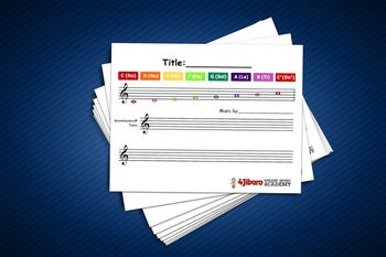 Music: Blank Boomwhackers® Tube Sheet Music