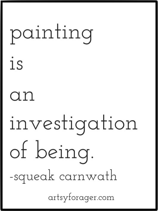 """Painting is an investigation of being."" #artquotes 