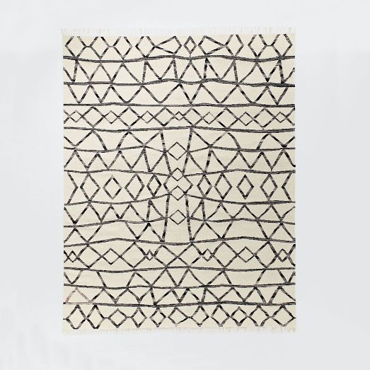 Torres Wool Kilim Rug In Iron 8x10 West Elm 599