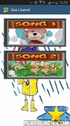 """Que Llueva Que Llueva Cancion  Android App - playslack.com , Llegó la canción infantil """"Que llueva, que llueva"""" para tu celular, una divertida canción que no requiere conexión a internet para reproducirse, para que los niños se diviertan escuchándola donde sea!LETRA """"QUE LLUEVA"""":Que llueva, que llueva, la Virgen de la Cueva, los pajarillos cantan, las nubes se levantan, que sí que no, que caiga un chaparrón con azúcar y turrón, que rompan los cristales de la estación."""