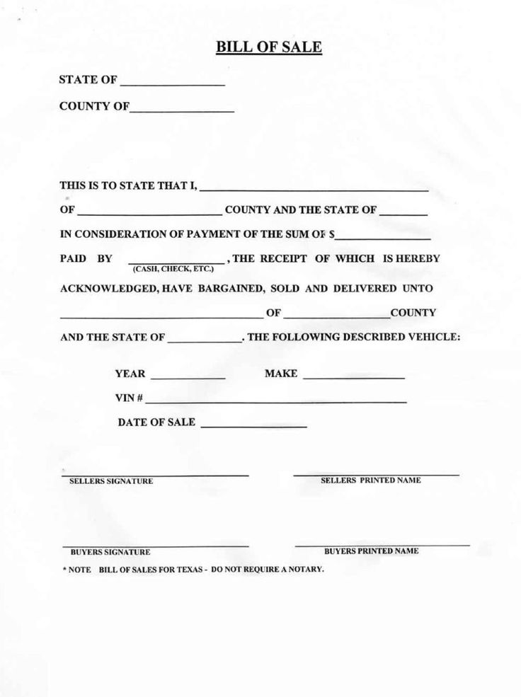 Costco Car Buying >> Blank Bill Of Sale For A Car Form Download Pictures Of How To Write A Bill Of Sale For A Car ...