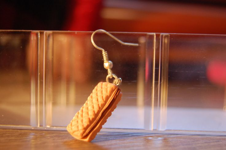 chocolatefe wafer! earring with pendant of polymer clay di HiSweety88 su Etsy