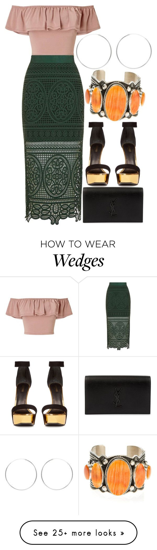 """Untitled #641"" by arianasinger on Polyvore featuring Miss Selfridge, Topshop, Balmain, Yves Saint Laurent and Harpo"