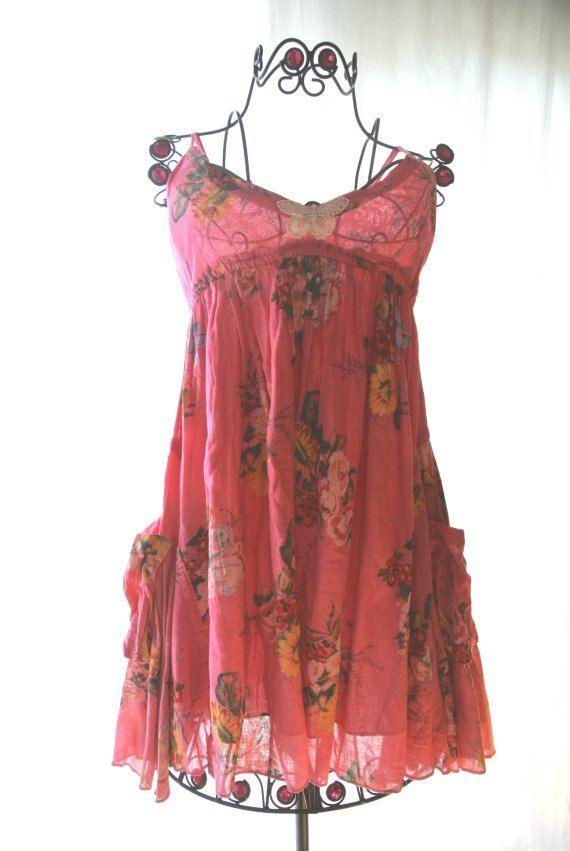 Romantic Boho Sundress Garden Party Dress by TrueRebelClothing, $68.00
