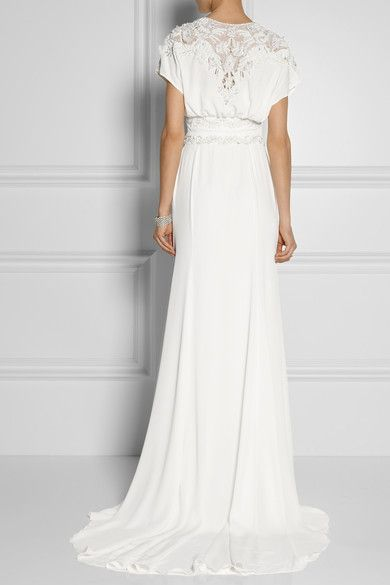 Love the back detail of this Temperley London wedding dress