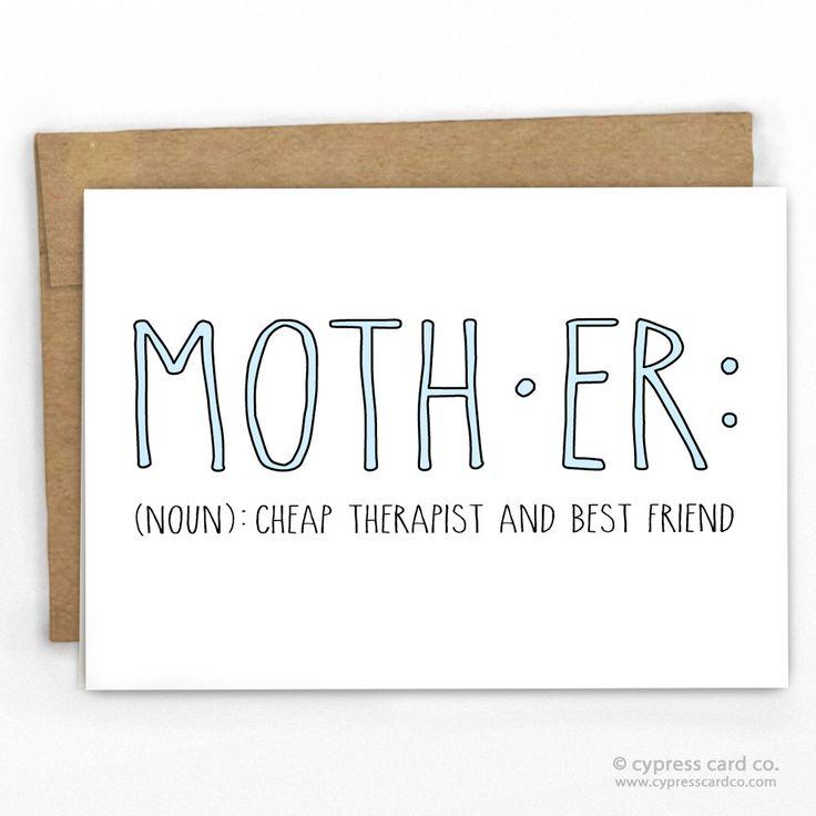 Mom: Cheap Therapist & Friend Card