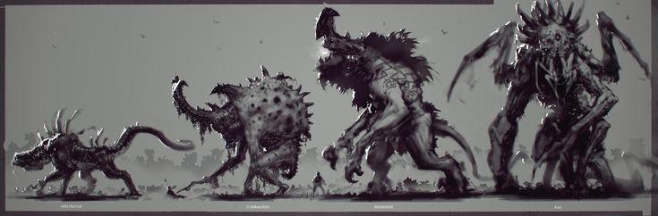 ArtStation - Evolve: Creatures, Scott Flanders
