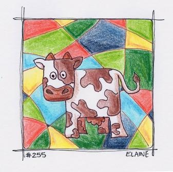 """Cucow Norman"" By Artist Elaine Butler Day 255"