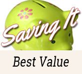 Saving money is easy when you are conscious of always buying the best value.