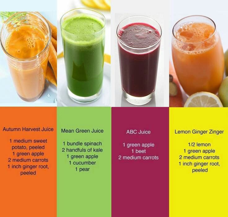 4 different juicing recipes