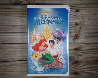1990 Black Diamond Classic Banned Cover Tested Working Disney The Little Mermaid VHS Tape In Original Case Disney Mermaid Decor Mermaid