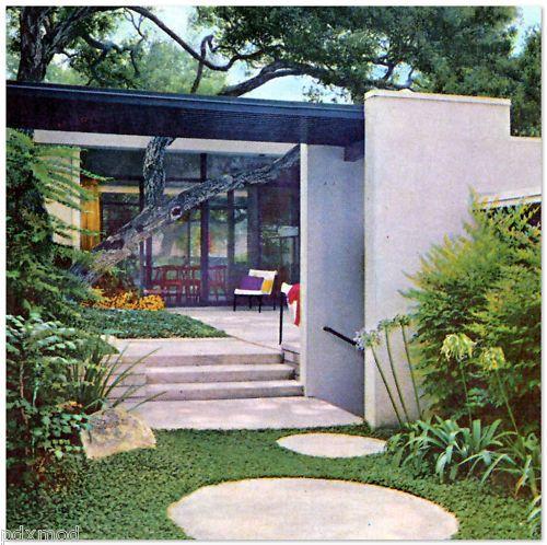 1963 Modernist Landscaping Design Architecture Mid Century Modern Eames Era | eBay