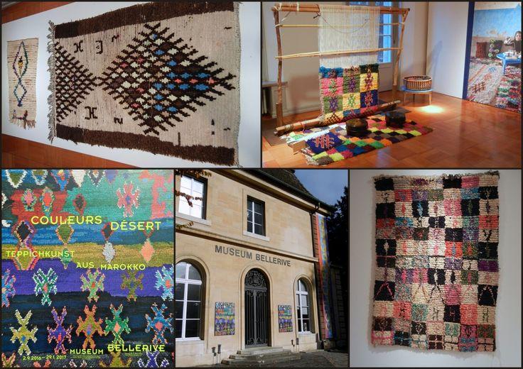 Couleurs Désert  (Barvy pouště), Teppichkunst aus Marokko, Museum Bellerive, Zürich, 2. 9. 2016 - 29. 1. 2017