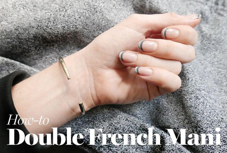 Doble manicura francesa