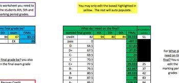 Semester Grade Calculator Bundle