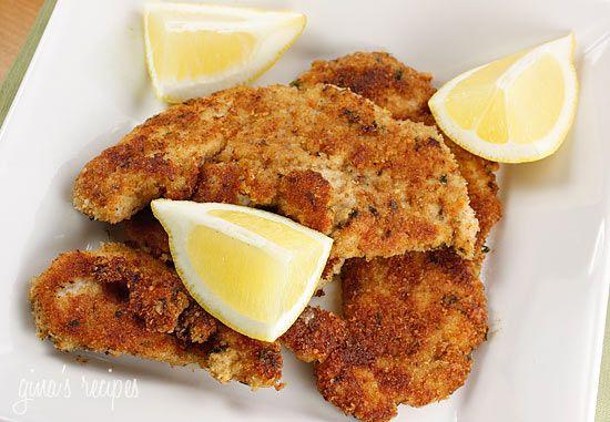 Turkey Cutlets with Parmesan Bread-Crumb Crust Recipe
