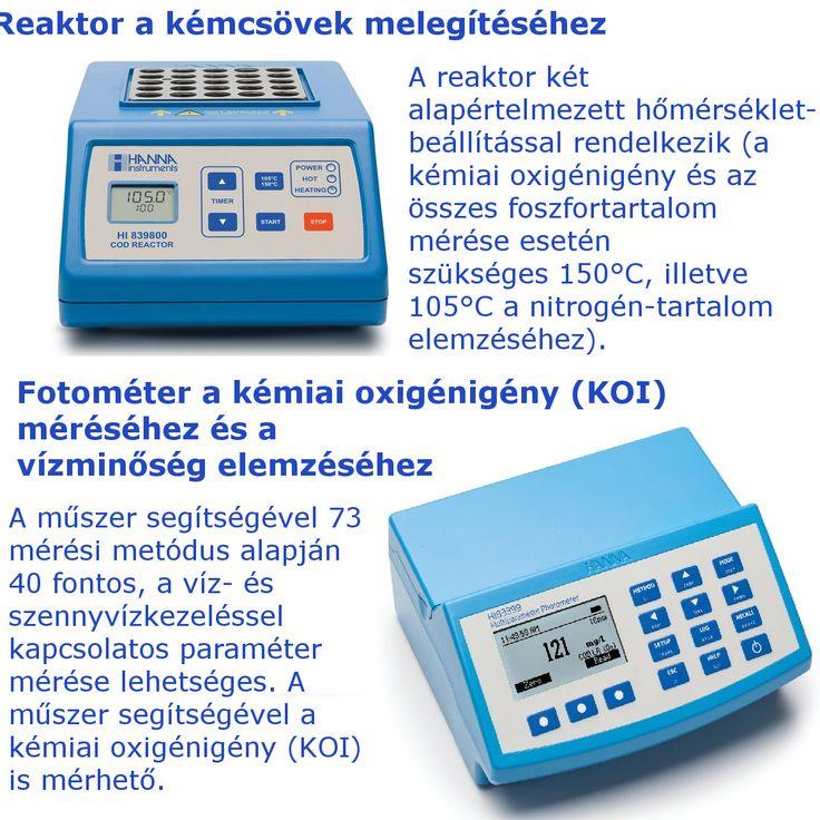 A Hanna HI83399 egy többparaméteres fotométer, amely segítségével 40 fontos elem vizsgálata lehetséges a víz és szennyvíz mintákban, továbbá a műszer képes a kémiai oxigénigény (KOI) mérésére is. A műszer mellé ajánljuk a HI839800 reaktort a KOI minták feltárásához.