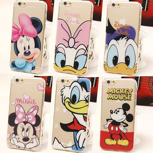 For iPhone 6 Cartoon Anime Case Donald Duck Minnie Mickey Mouse Case Ultra Slim Clear TPU Case Cover for Apple iPhone 6 4.7'', click to vist site to buy this case from Aliexpress, accept Escrow/Credit Card payment method