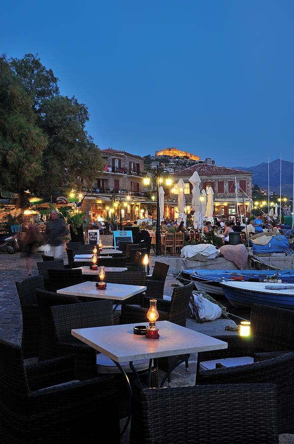 Molyvos at Dusk, Lesvos, Greece