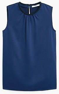 Womens air force blue top from Mango - £39.99 at ClothingByColour.com
