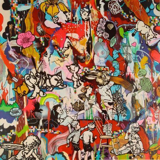 Tantrum Confession, Dan Baldwin. Pop art. Limited edition print. Dan Baldwin's bright prints will add some fun and colour to your living room.